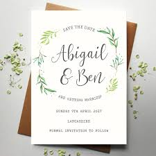 Save The Date For Wedding Botanical Wedding Save The Date
