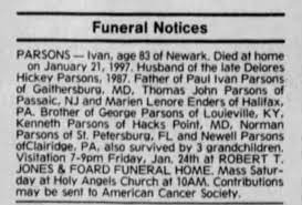 Ivan Parsons obit 1997 - Newspapers.com