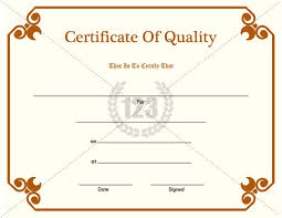 Sample Certificates Templates Certificate Of Quality Pdf Free Download 123certificate Templates