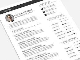 Swiss Style Resume Cv Full Set Template By Daniel E Graves Dribbble