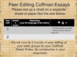 EAP BOOTCAMP. AGENDA: 2/26 Bellwork- grammar Peer Edit Coffman ...