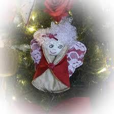 Weihnachtsengel Nähen Rose Decoration Das Kreativ Atelier