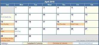 Wincalendar Com Printable Calendar Calendar April 2019 Excel Printable April 2019 Calendar