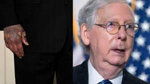 Image result for mitch mcconnell lips and hand