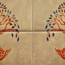 life handmade ceramic tile mural