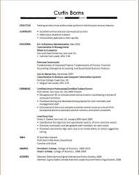 Unique Sample Resume For Recent College Graduate With No Ideas Of