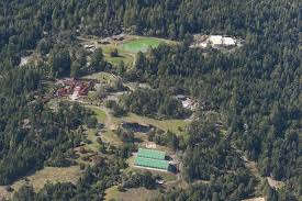 an aerial view of the ratna ling retreat center photo coastal hills rural preservation