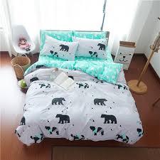 whole lovely polar bear pattern white bedding sets bedlinen 100