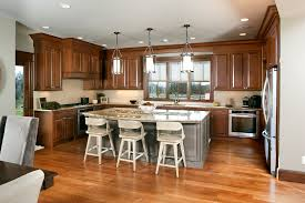 stained kitchen cabinets in pecan with ebony glaze by showplace cabinetry view 1