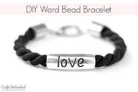word bead bracelet diy