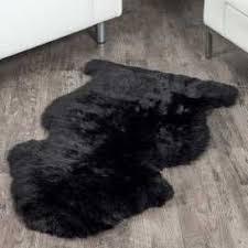 black sheepskin rug. Black Sheepskin Rug (2x3.5 Ft) G