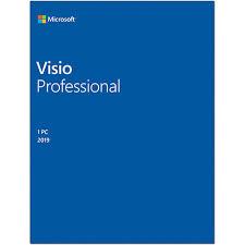 Microsoft Visio Microsoft Visio Professional 2019 1 User License Media Less Product Key Code