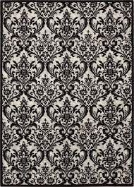 nourison rugs damask black white from nourison rugs
