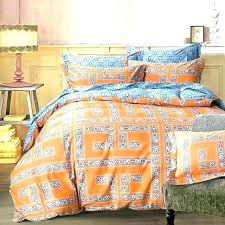 blue and brown bedding sets arabesque orange geometric bedding sets queen king size cotton print fabric geometry blue grey bed sheets aqua blue and brown