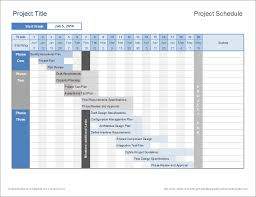 Project Management Microsoft Excel Project Schedule Template