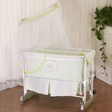 Popular Baby Cradle Wheeled Infant Bassinet Newborn Rocking Crib Bed  Multifunctional Baby Bed with Mosquito Net