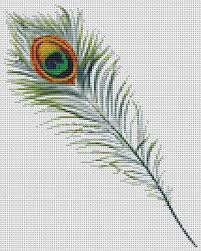 Peacock Feather Cross Stitch Pattern Pdf Peacock Cross Stitch Chart 8 X 10 Inches