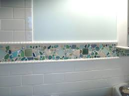 decoration astounding kitchen and bathroom decoration with beach glass tile interactive wall backsplash images