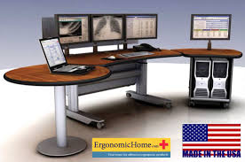 Ergonomic Computer Desk Pacs Workstation Ergonomic Radiology Furniture Imaging