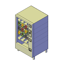 Vending Machine Cad Block Plan Mesmerizing Vending Machine 48D DWG Model CAD Blocks Free