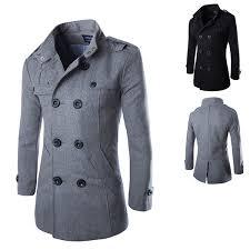 wish 2016 mens trench coat fashion wool long mens coat winter trench coat men gabardinas para hombre m l xl l xl