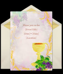 Free First Communion Online Invitations Punchbowl