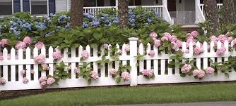 Wood Picket White Picket Fence 18 Cool Picket Fence Garden Ideas