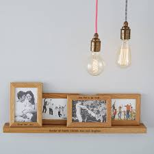 personalised multi frame shelf with four frames