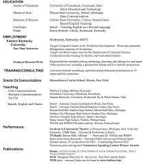 Resume talk