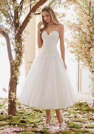 tulle tea length wedding dress skirt style 6843 morilee