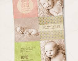 Printed Birth Announcement Announcements Etsy Au