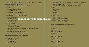 Sharing berkas dan pembelajaran guru paud tk ra. Kunci Jawaban Buku Senang Belajar Matematika Kelas 4 Kurikulum 2013 Revisi 2018 Halaman 54 55 60 63 66 67 69 71 72 Dunia Smk