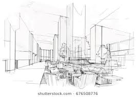 interior architecture sketch. Wonderful Sketch Sketch Perspective Interior Drawing Pen With Pencil Black And White Interior  Design Vector For Interior Architecture Sketch I