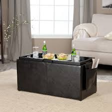 hartley coffee table storage ottoman with tray side ottomans and suede mainstays faux ultra multiple colors round fabric tufted leather upholstered cocktail