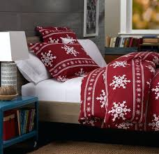 snowflake comforter set cotton flannel duvet cover full queen red