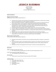 Physical Therapy Resume Classy Sample Physical Therapy Resume Luxury Physical Therapy Resume