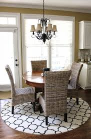 design round dining table rug