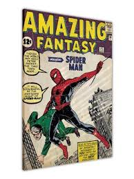 marvel comics amazing spiderman first edition 1st magazine canvas wall art prints pictures print picture room on marvel comics wall art uk with marvel comics amazing spiderman first edition 1st magazine canvas