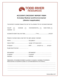 Fillable Online Accident Incident Report Form Includes