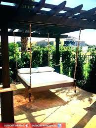 outdoor floating bed hanging ideas furniture swing pallet daybed idea varnished bedroom lamps diy