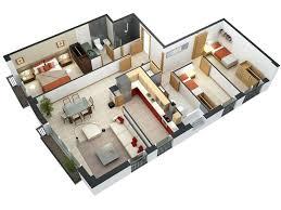 3 Bedroom Home Design Plans Simple Inspiration Design