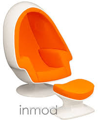 absolutely modern orange chair comfortable egg pod living room fiberglass leisure with ottoman dining accent office