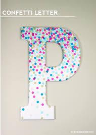 Letter S Wall Decor Confetti Decorative Letters For Wall Decor Mod Podge Rocks