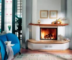 image of corner fireplace mantels with tv above