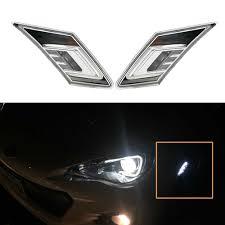 Scion Frs Led Lights 2pcs Lot White Amber Led Side Marker Blinker Lights W Crystal Clear Lens For 2013 Up Scion Fr S Subaru Brz For Toyota 86 Gt