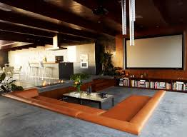 modern sunken home theater modern home theater los angeles