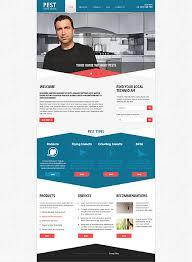 Responsive Website Template Extraordinary Pest Control Responsive Website Template
