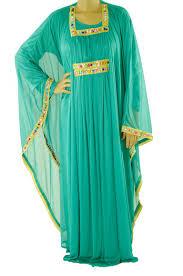 Teal 2 Piece Bedazzle Kaftan Dress