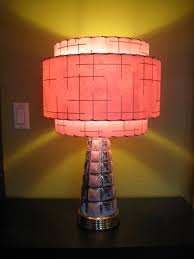 made to order mid century vintage style tiered fiberglass lamp