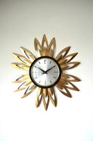 creative funky retro mid century vintage smiths brass sunburst wall clock retro sunburst wall clock r76812